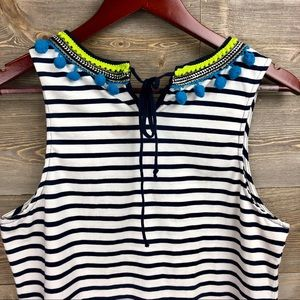 Anthropologie Tops - Anthropologie One September Colorpom Striped Tank
